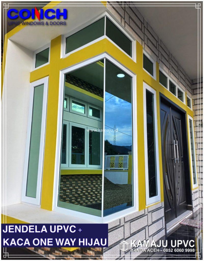 JENDELA UPVC KACA ONE WAY