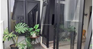 pintu sliding upvc warna hitam