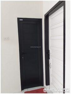 Pintu Kamar Mandi UPVC warna Hitam