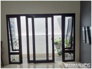 pintu jendela upvc warna hitam