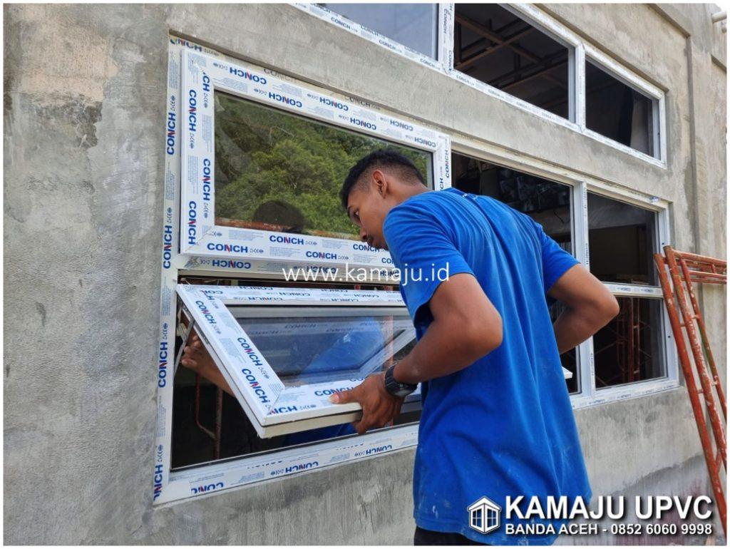 Pemasangan Jendela UPVC di Banda Aceh