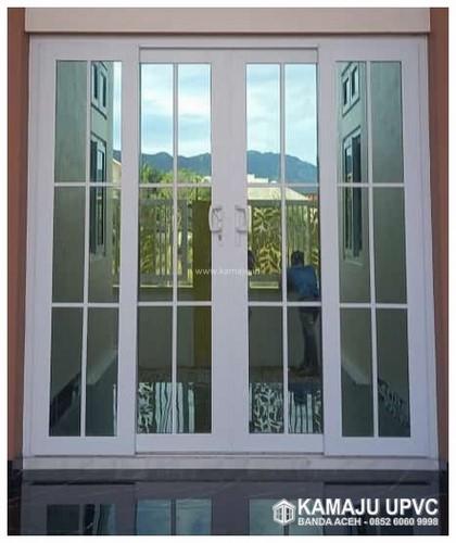 Pintu Geser UPVC dan Kaca